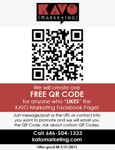 FREE QR CODE SPECIAL